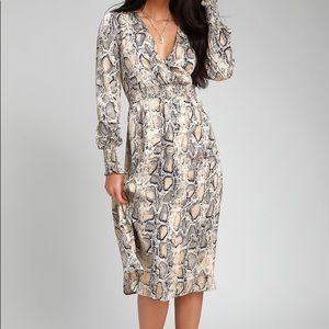 Lulus Snakeskin Dress- Small